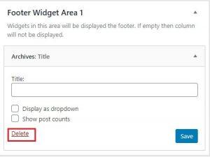 deleting widget