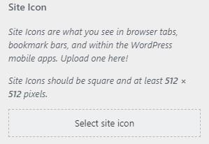 select site icon
